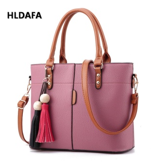 Harga Fashion Female Bag Messenger Bag Top-Handle Bags (Pink) - intl