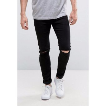 Harga Philip Price - Ripped Jeans - Full Black