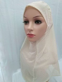 Harga Muslim Scarf Scarf New Convenience Simple Sets of Head Models Summer Female Hoods Beige - intl