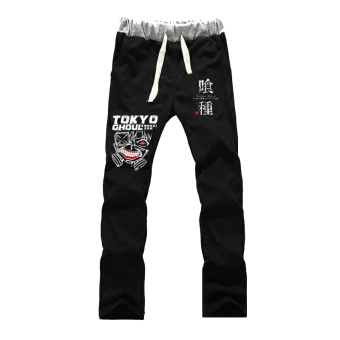 Harga Anime Tokyo Ghoul Cosplay Pants Trousers Costume (Black)