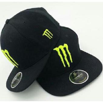 Harga Playclotink Topi Snapback Monster Energy Hitam