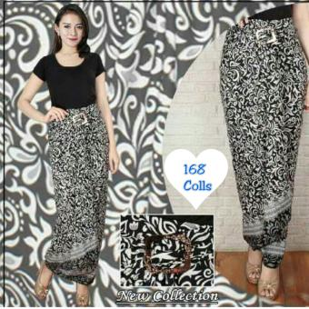 168 Collection Rok Maxi Lilit Black Sweet Batik-Hitam
