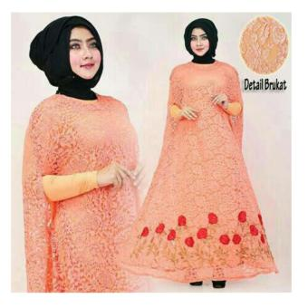 Harga Up2Date Kaftan Raisa Brukat [PEACH]