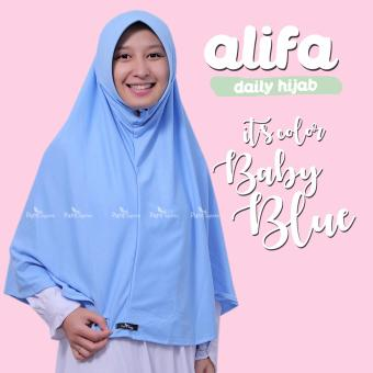 Harga Bergo Kaos Alifa Daily Hijab By Pure Syaree Baby Blue
