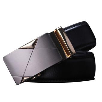 HKS Fashion Microfiber Leather Automatic Buckle Men Belt - intl