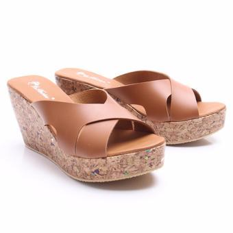 Dr.Kevin Women Wedges Sandals 27347 Tan