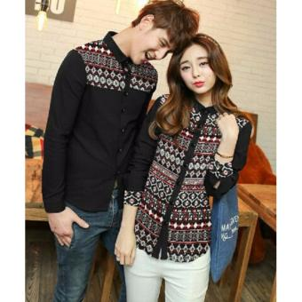 Harga Couple Store - Kemeja Couple Star Star Black
