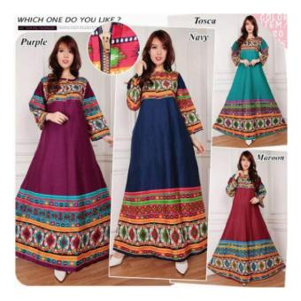 Harga Sb Collection Maxi Dress Darkly Gamis Kaftan-Maroon