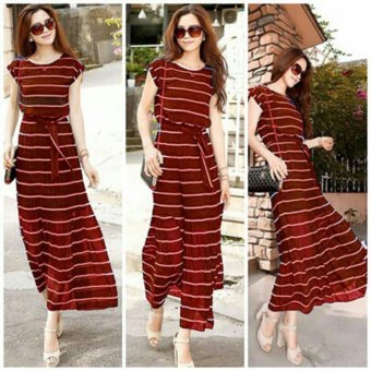 Harga MJ Maxi Dress Vira - Red