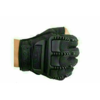 Harga Sarung Tangan Glove Tactical Army Military Bikers M-PACT MECHANIX Half Finger - Hitam