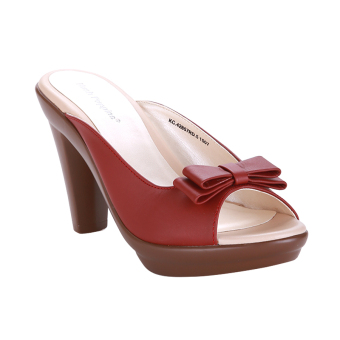 Hush Puppies Sandal Heels Wanita Karen Slip On Merah
