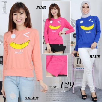 Harga tokolobo sweater banana smile 129 blue