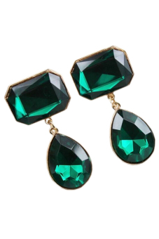 Harga Blue lans Crystal Earrings (Green)