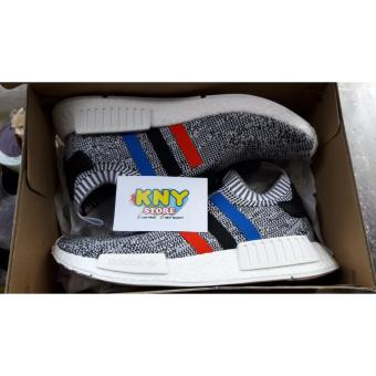 Adidas NMD R1 Tricolor White PK 100% Authentic USA