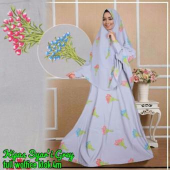 Mj Gamis Adelle Syari Green Cek Harga Source Gamis Syari Kipas Grey Harga Di Indonesia