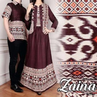 Harga AK - Zaina Couple - Coklat Akiko fashion