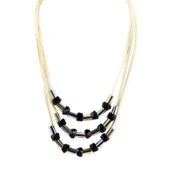 ... Ofashion Aksesoris Kalung XX CA 1702K012 Modern Necklace Accessories Panjang 54 Cm Putih