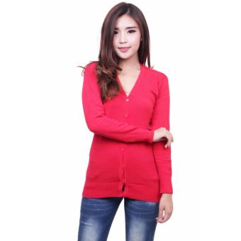 Harga QuincyLabel Basic Cardigan Red