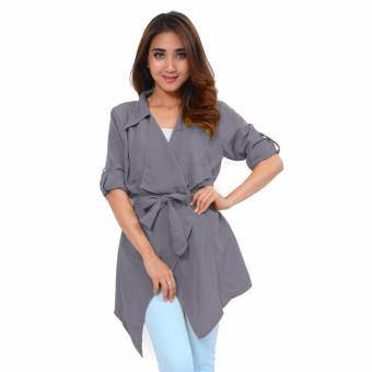 Harga AK-129 Cardigan Mody Grey Akiko Fashion
