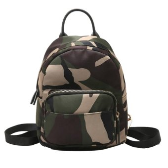 Harga Fashion Women Multifunction Nylon Mini Backpack Shoulder Bag(Camouflage) - intl