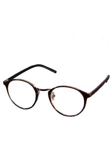 Kaca Mata Bulat (Coklat)