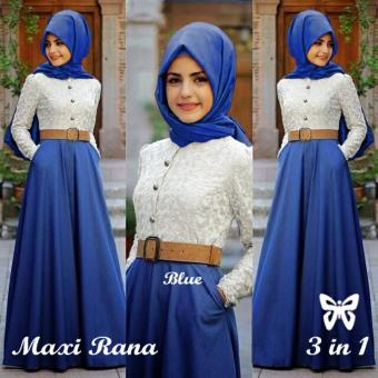 Harga Hasanah Fashion Rana Maxi - Blue