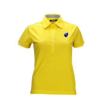 Ladies' Golf Polo T-shirt Cotton Short Sleeve Tee(Yellow)