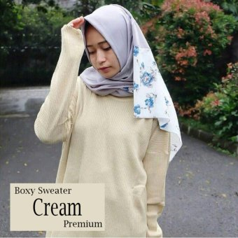 Harga Boxy Sweater Premium (Cream)