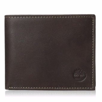Harga Timberland Men's Cloudy Passcase Wallet(Brown) - intl