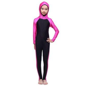 Gadis pakaian renang baju renang Muslim konservatif (naik merah) - International