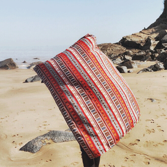 Harga Bohemian Shawl Beach Towel Sunscreen Resort Fringed Scarf National Wind Scarf - intl