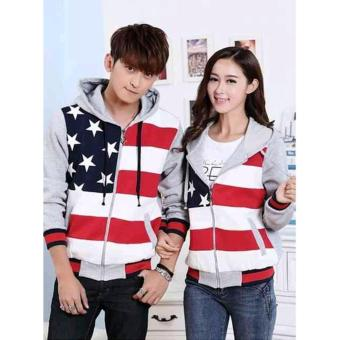 Harga Sweater Couple Fivestar Zipper Abu Abu