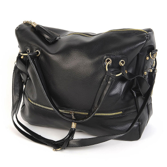 Harga Korean Big Capacity Black Women's Shoulder Bag