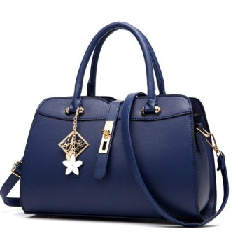 Harga Female Bag 2017 New Bag Sweet Lady Fashion Embossed Handbag Messenger Bag Top-Handle Bags (Blue) - intl