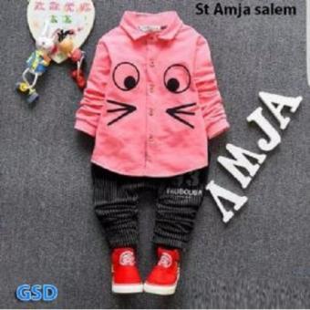 GSD Baju Setelan Hem Anak Cowo St Amja Salem