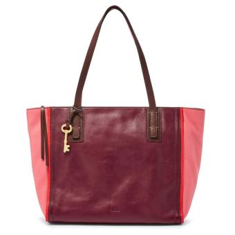Harga Fossil Emma Crossbody Tote - Red Multi, ZB 6912995