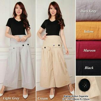 Harga Terbaru 168 Collection Celana Kulot J Lo Long Pant-Cream