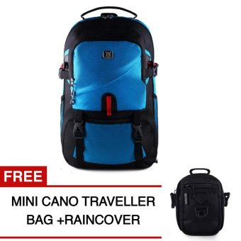 Harga Gear Bag - The Blue Howards Backpack + Raincover + FREE Mini Cano Traveller