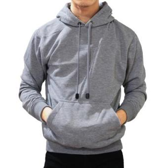 Harga DEcTionS Jaket Sweater Polos Hoodie Jumper - Misty Muda