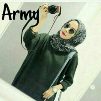 Harga DoubleC Fashion Sweater Boxi Army