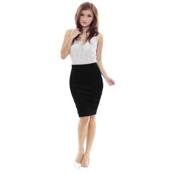 Harga Yoorafashion Rok Wanita - Rok Pensil Hitam - Black Pencil Skirt