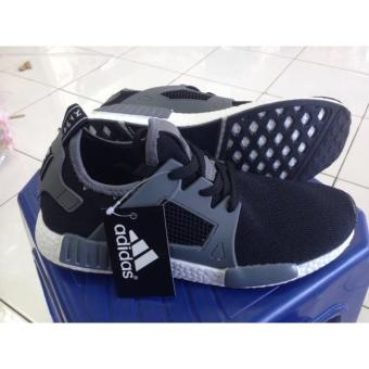 SEPATU NEW ADIDAS NMD MAN IMPORT BLACK GREY