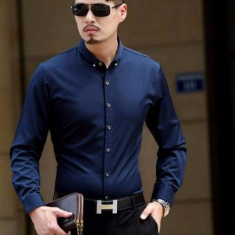 Harga ACE Fashion Men Shirt Andre - (Blue)
