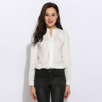 Harga Yika Women Long Sleeve Slim Shirt - intl