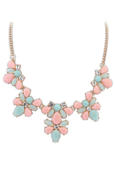 Harga Blue lans Crystal Flower Necklace (Multicolor)