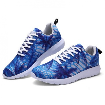 Men's lightweight casual shoes tide camouflage Blue