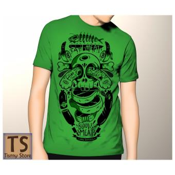 Harga Tismy Store Kaos Eat Meat Blood Meat - Hijau