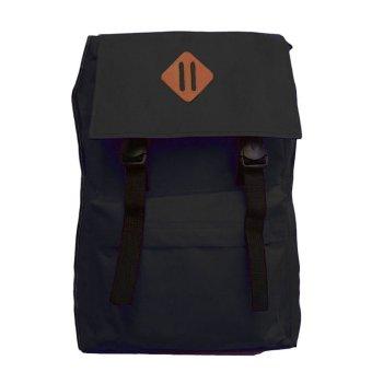 Bag & Stuff Korean Compact Backpack - Hitam