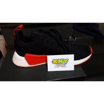 Adidas NMD R2 PK Black Red 100% Authentic USA