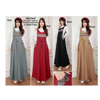 Harga SB Collection Terusan Dress Ariela Overall-Coklat